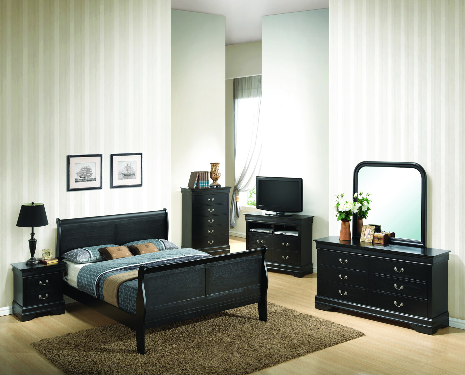 Glory Furniture G3150 Bedroom Set In Black 1stopbedrooms
