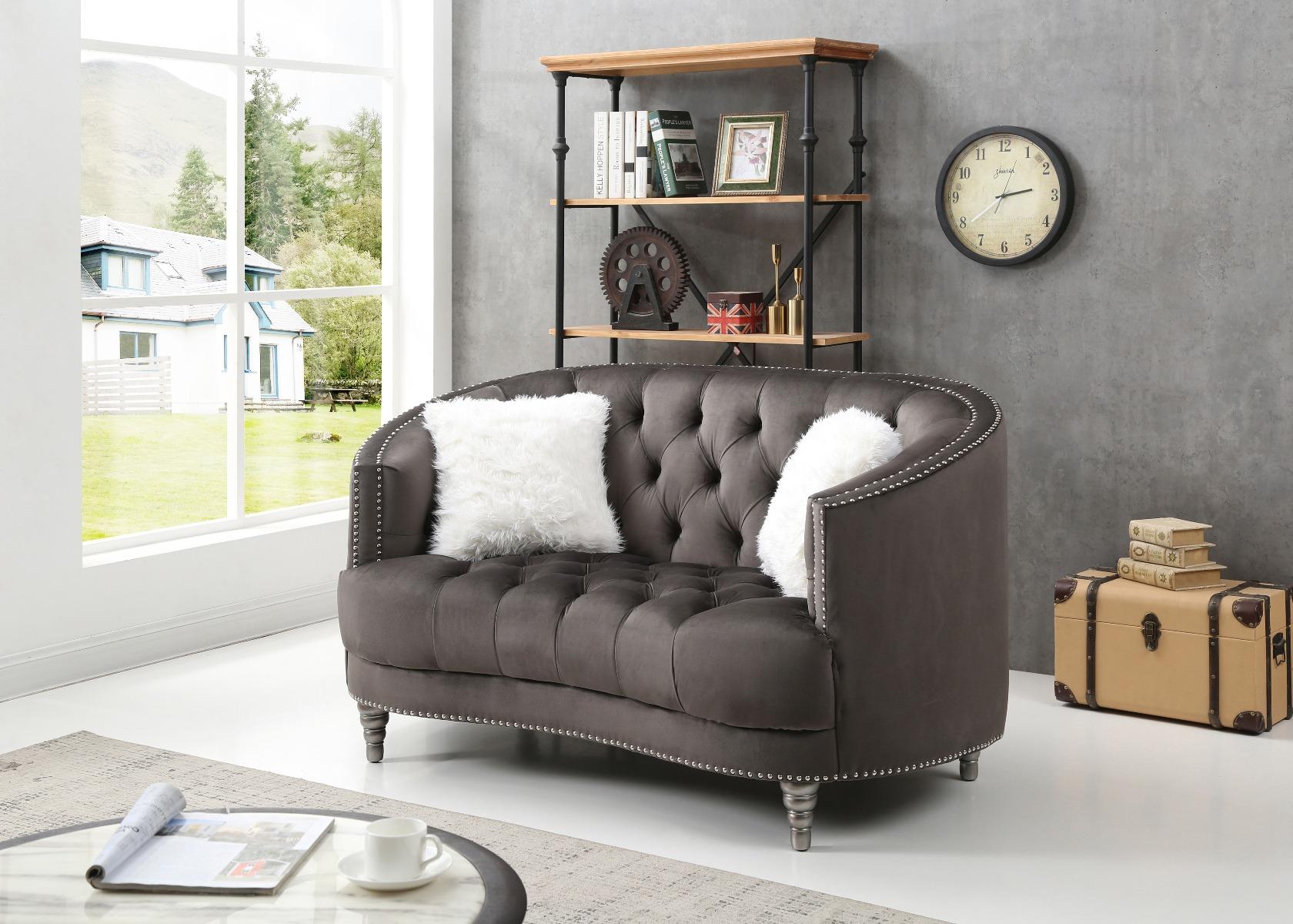 Pleasing Glory Furniture Dania G852 L Loveseat Gray Theyellowbook Wood Chair Design Ideas Theyellowbookinfo