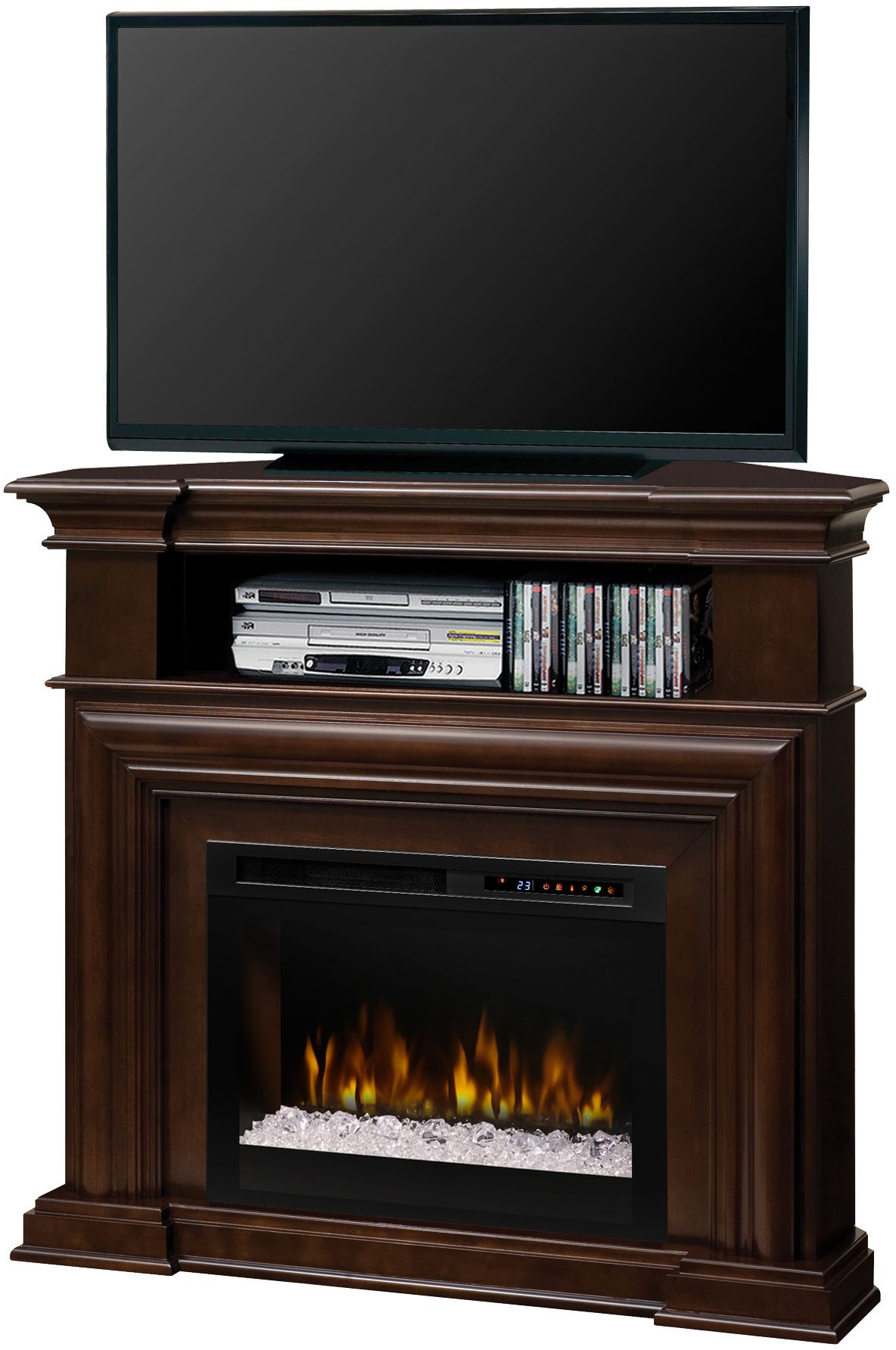 Dimplex montgomery espresso media console electric - Going to bed with embers in fireplace ...