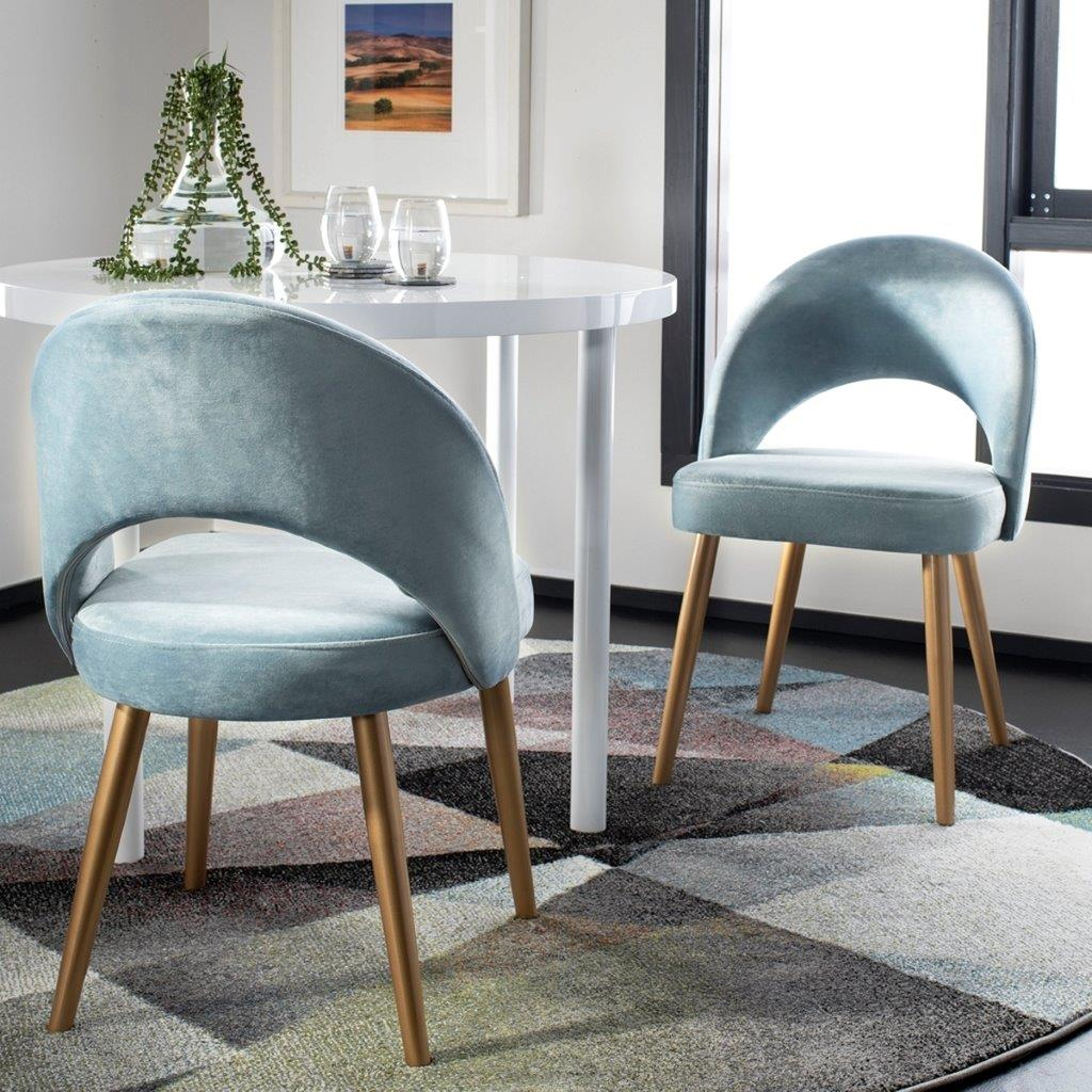 Must Have Giani Slate Blue Gold Retro, Slate Blue Dining Room