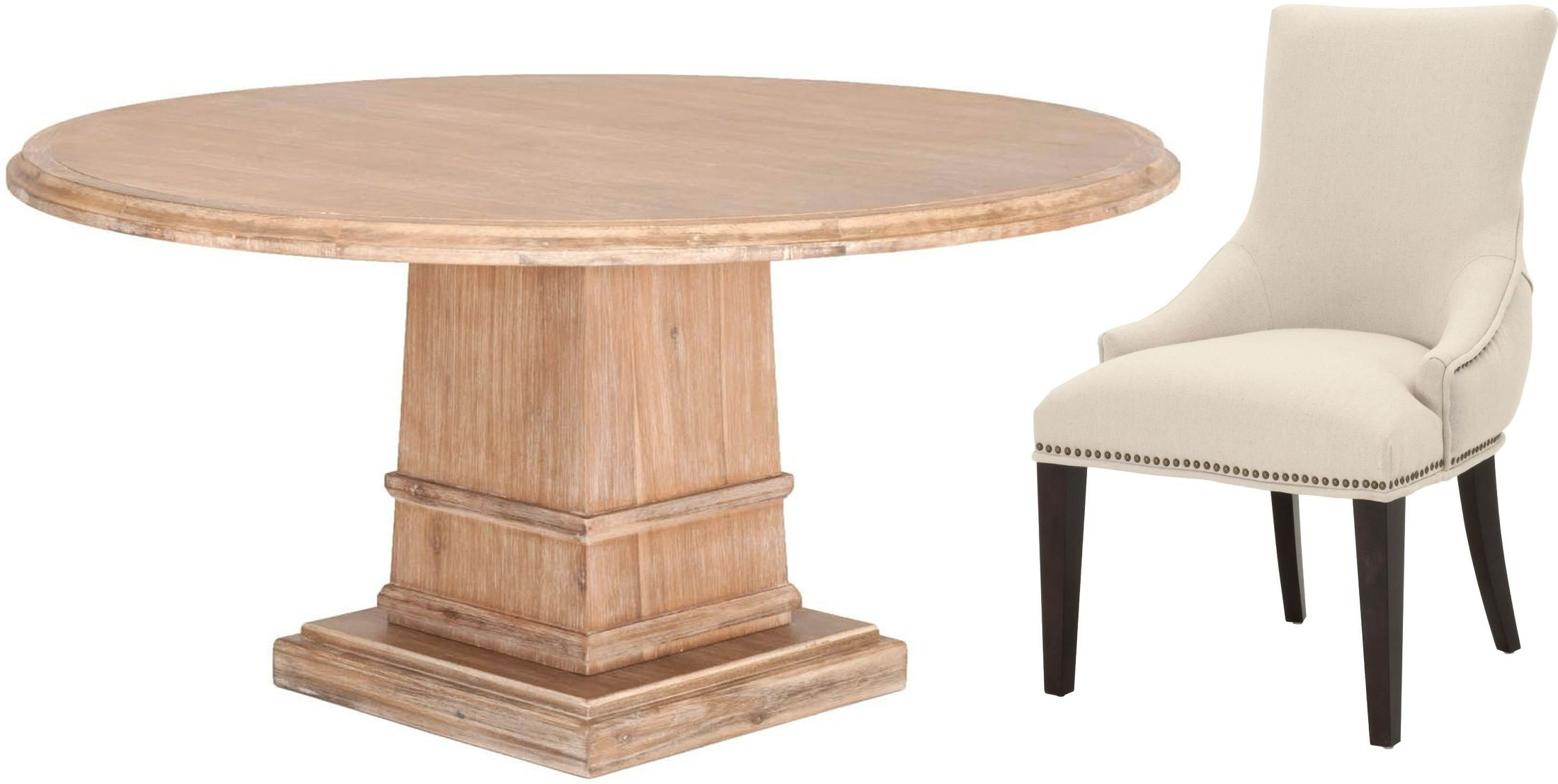 Orient Express Hudson Stone Wash 54 Quot Round Dining Room Set