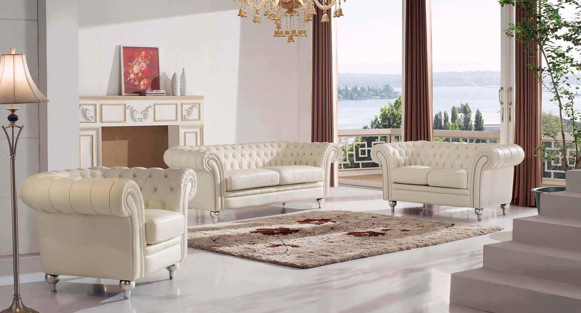287 Tufted Cream Living Room Setmedia Image