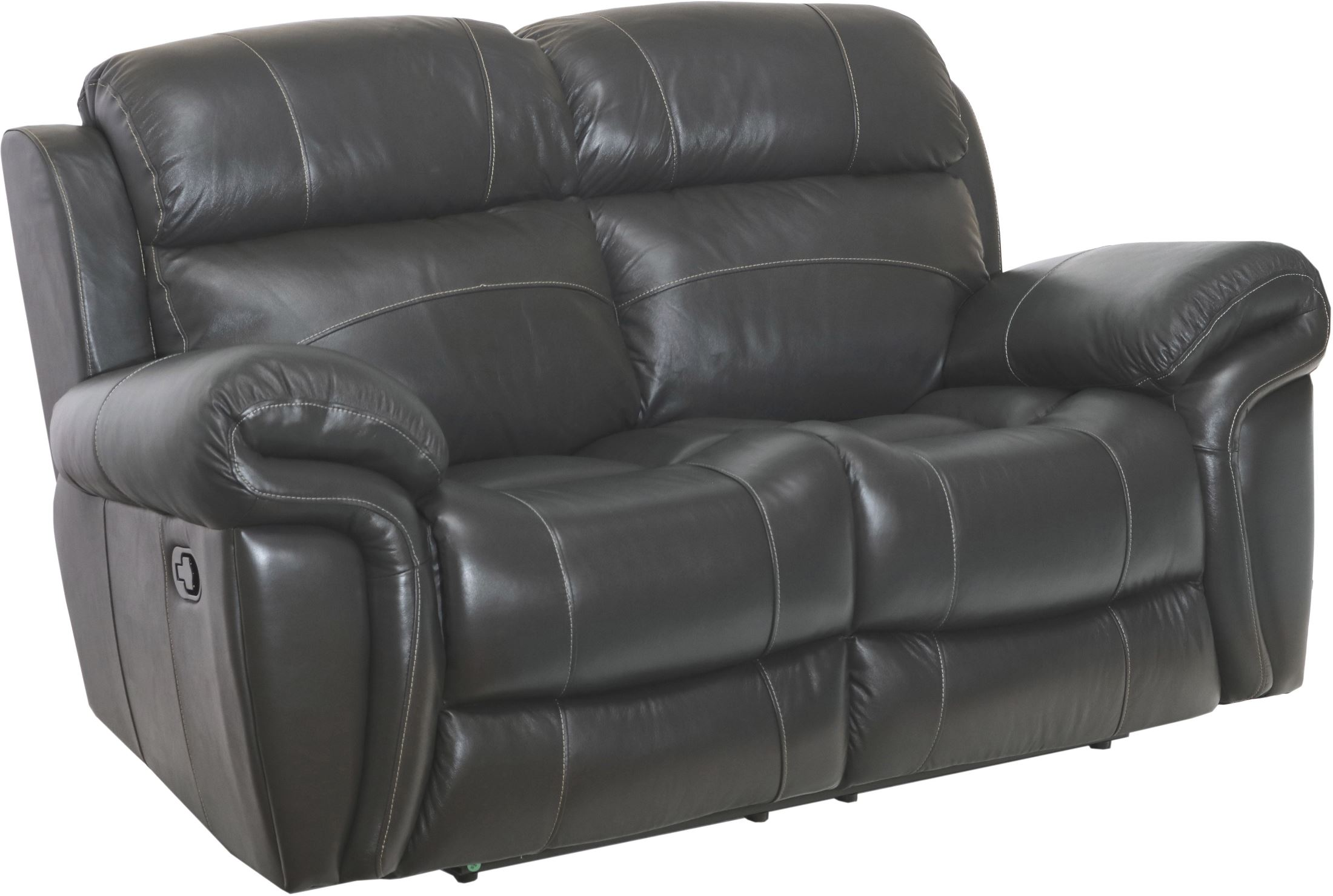 Paloma Gray Leather Power Reclining Loveseat 1stopbedrooms