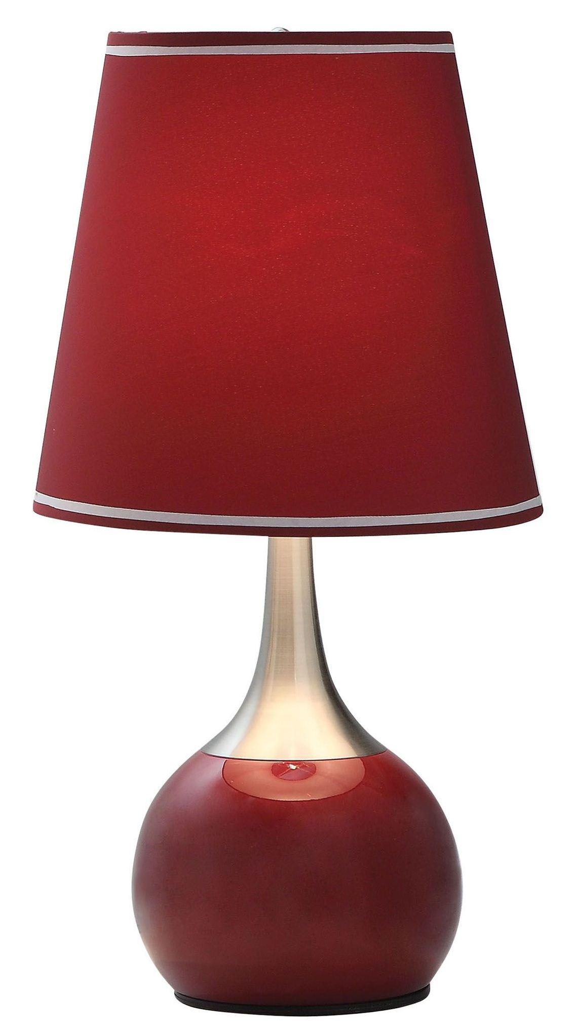 Furniture Of America Burgundy Touch Lamp Burgundy