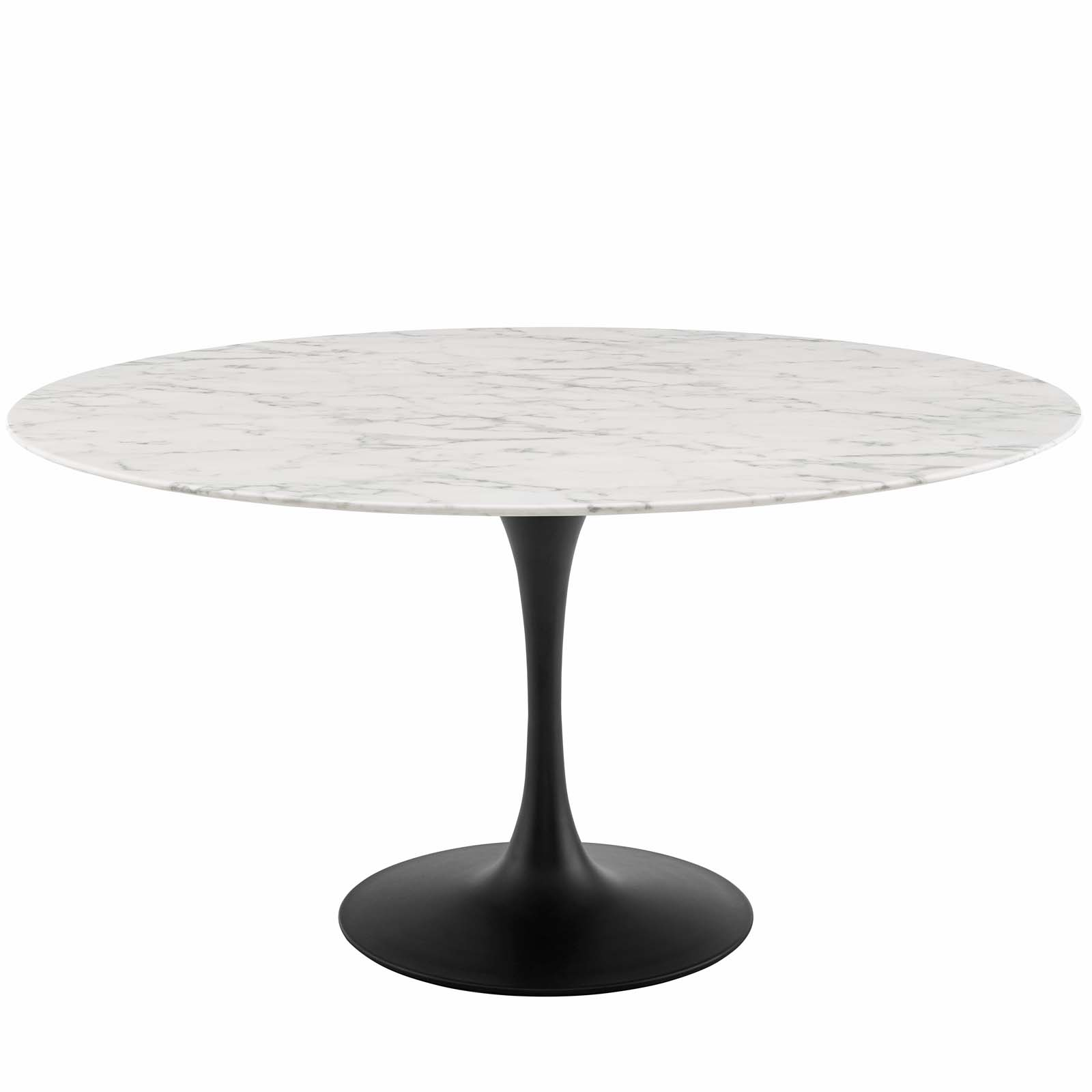 Lippa Black And White 60 Inch Round Artificial Marble Dining Table Eei 3529 Blk Whi 1stopbedrooms