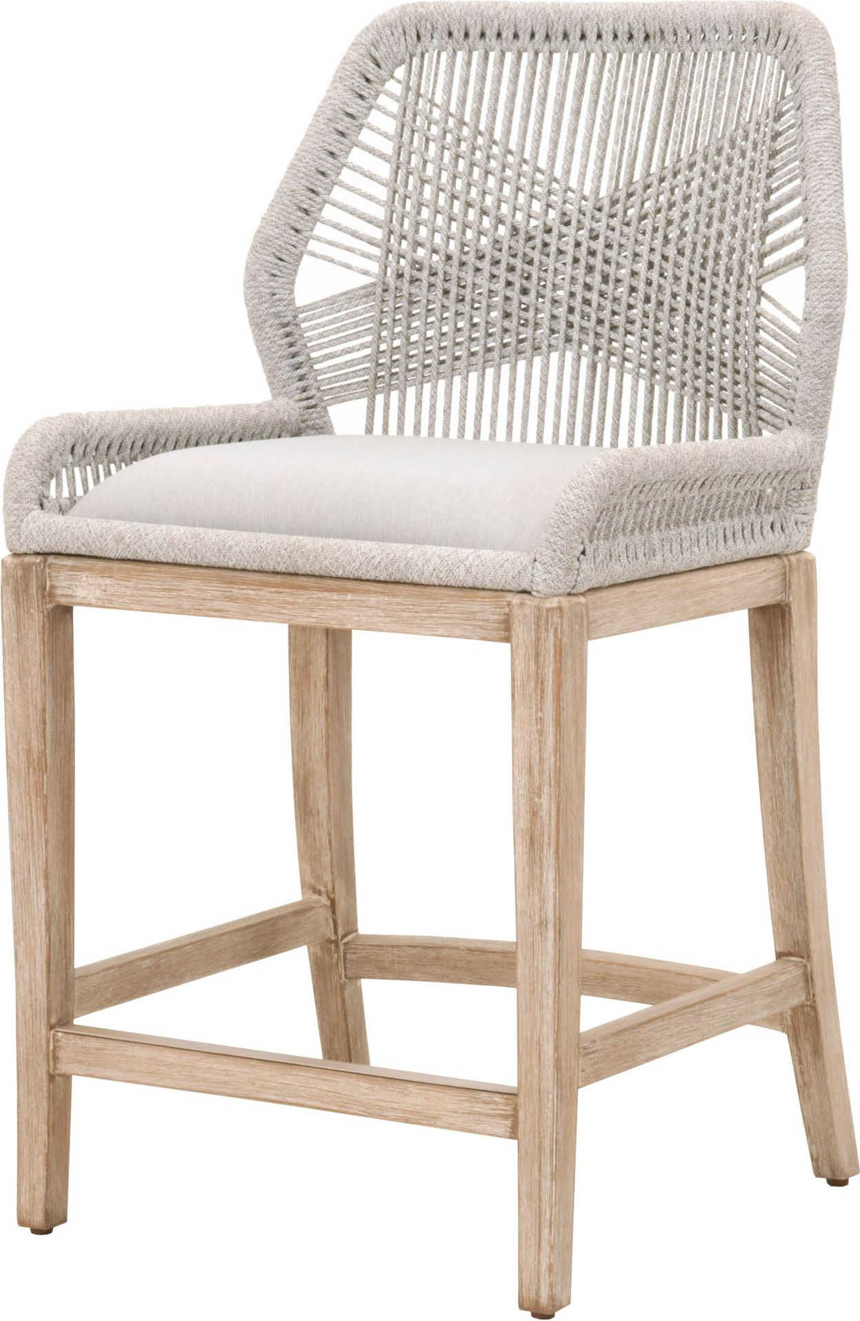 Orient Express Loom Wicker Natural Gray Counter Stool