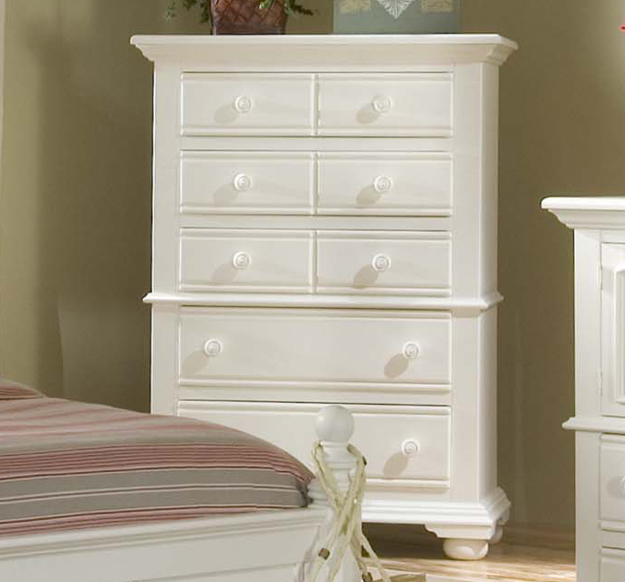Cottage Traditions White Five Drawer Chest 1stopbedrooms