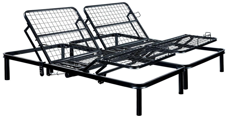 furniture of america framos iii black eastern king adjustable bed frame framos collection 1. Black Bedroom Furniture Sets. Home Design Ideas