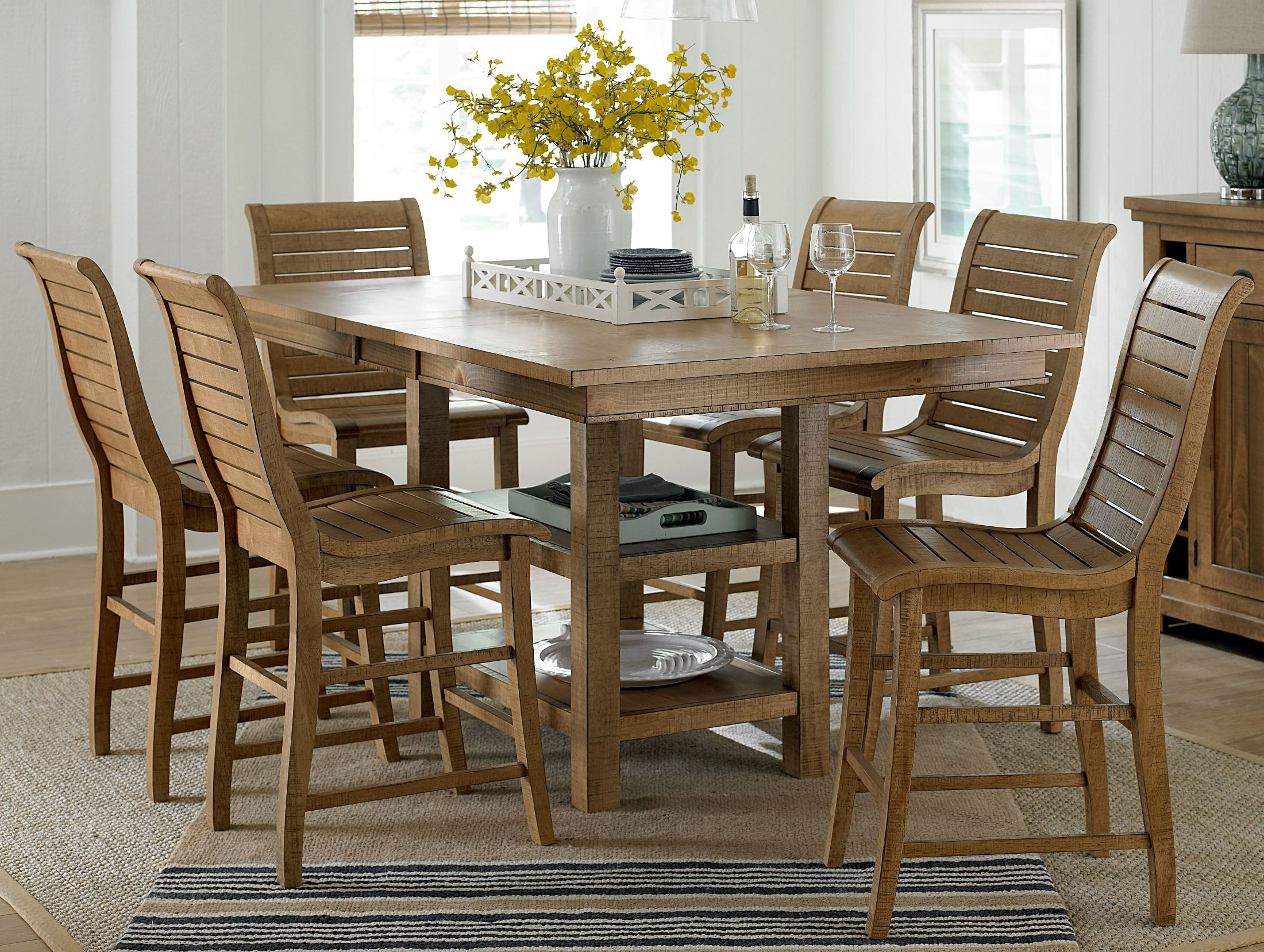 Pine Living Room Furniture Sets: Progressive Furniture Willow Distressed Pine Rectangular