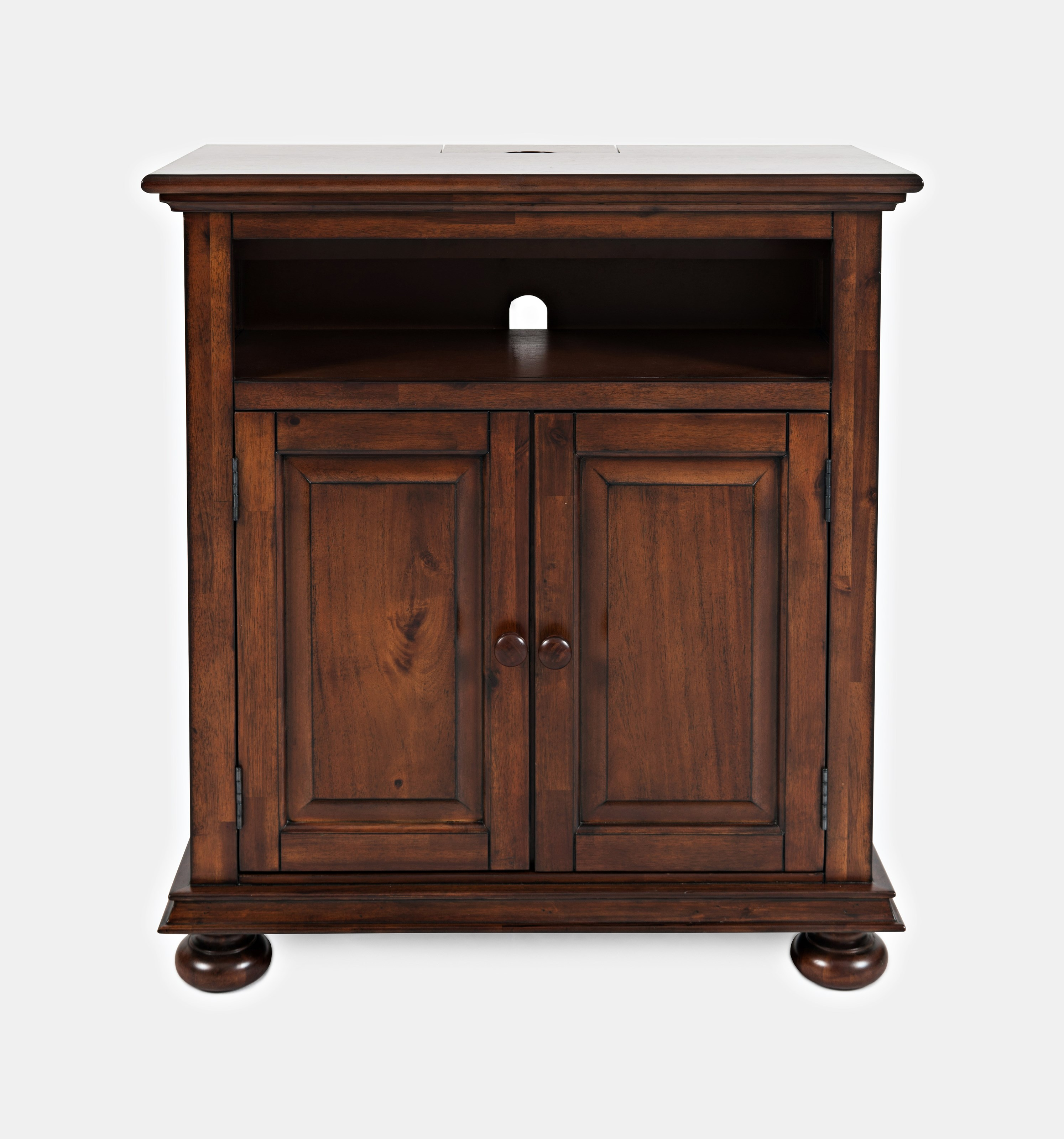Jofran Stately Manor Power Accent Chest Ant. Mahogany