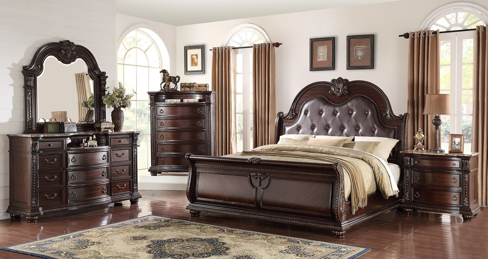 Stanley Sleigh Bedroom Set 1stopbedrooms
