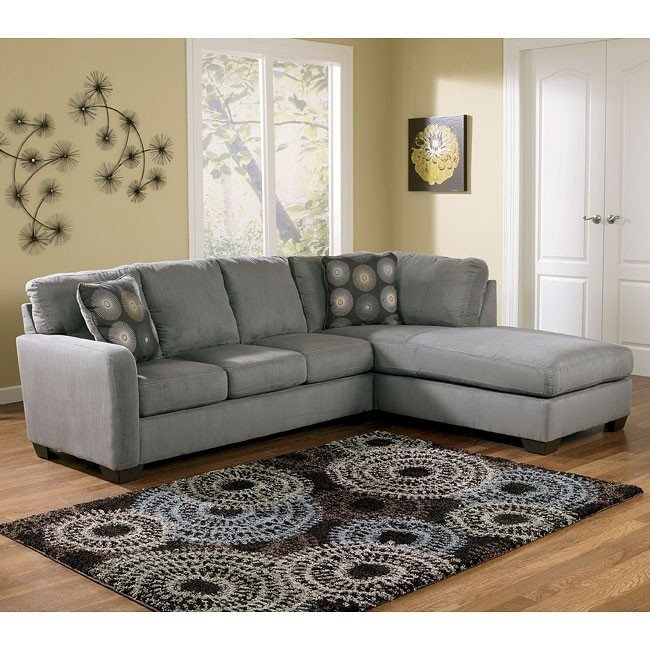 Signature Design By Ashley Zella Charcoal Right Arm Facing Sectional