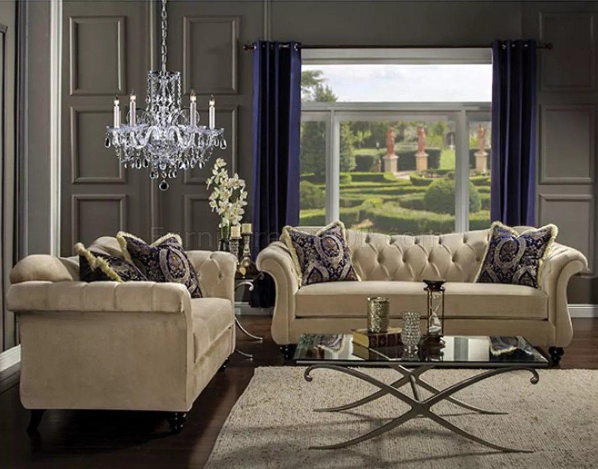 Antoinette Light Mocha Living Room Set