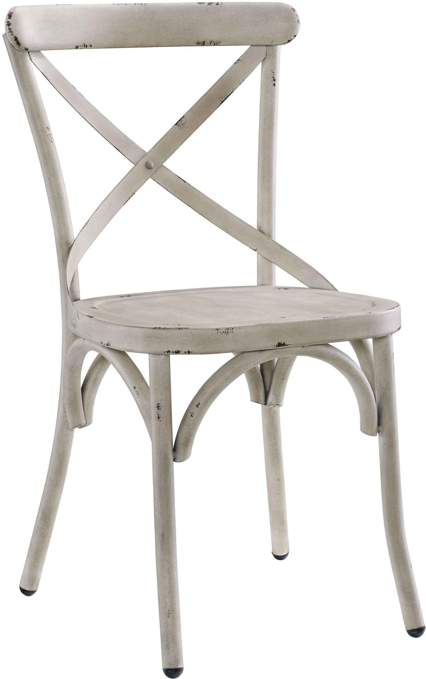Pulaski Distressed Antique White Metal Dining Chair Set Of