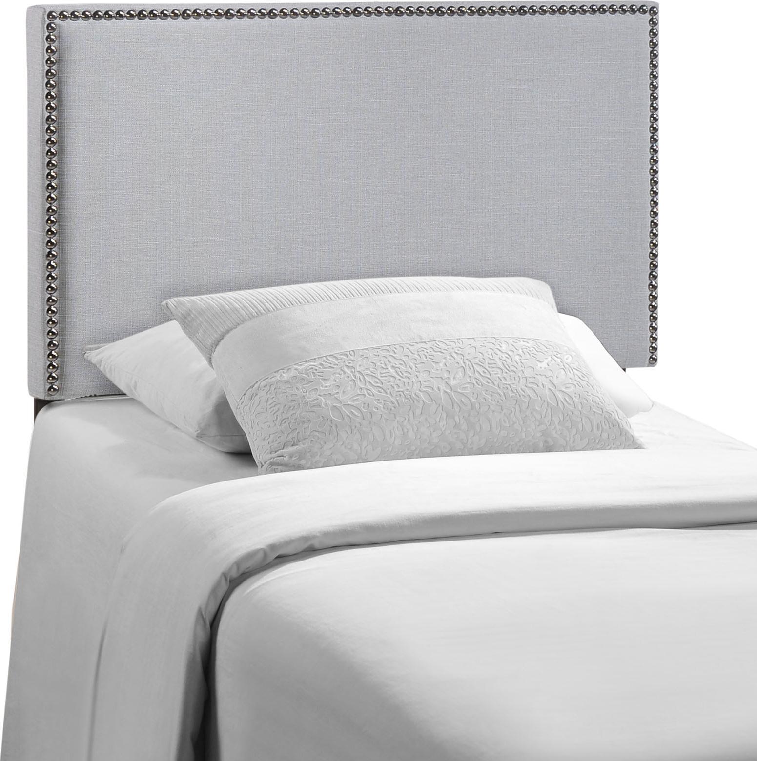 Twin Upholstered Headboard Mod 5218 Gry