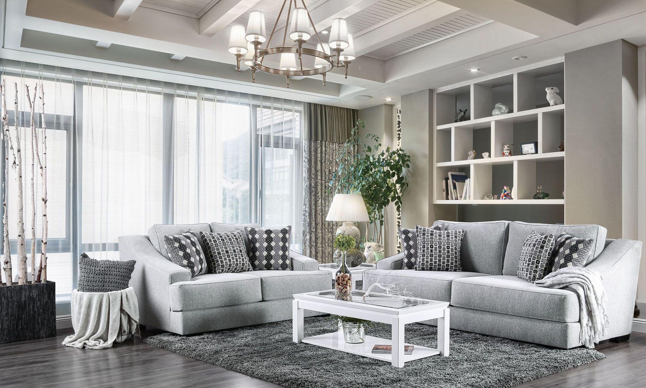 Lesath Light Gray Living Room Set 1stopbedrooms