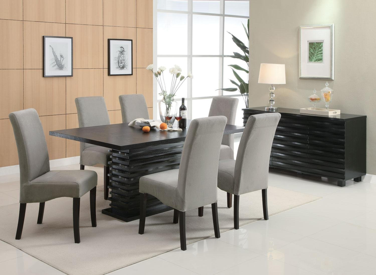 Forbes White Marble And Walnut Dining Table 1stopbedrooms