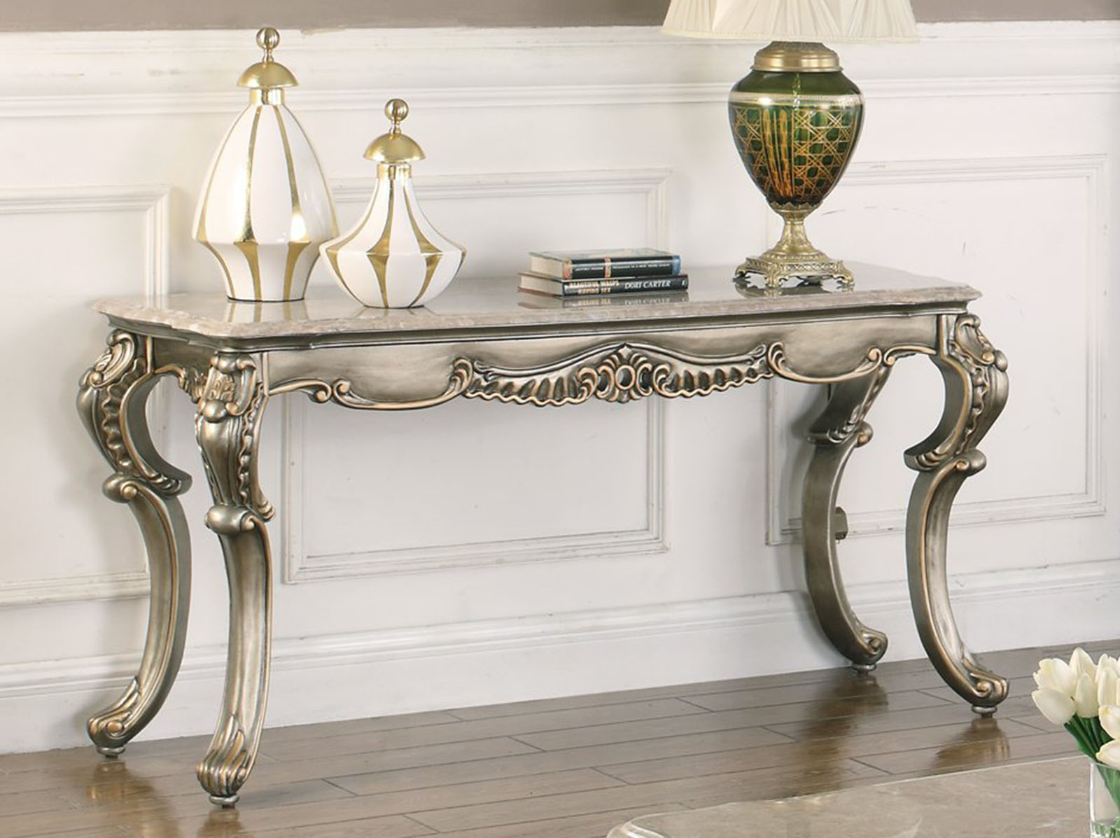 New Classic Furniture Ophelia Console Table T535 30 1stopbedrooms