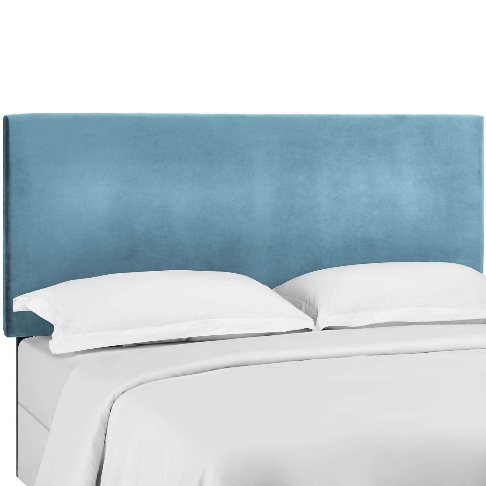 Taylor Sea Blue Full Queen Upholstered Performance Velvet Headboard Mod 5881 Sea 1stopbedrooms