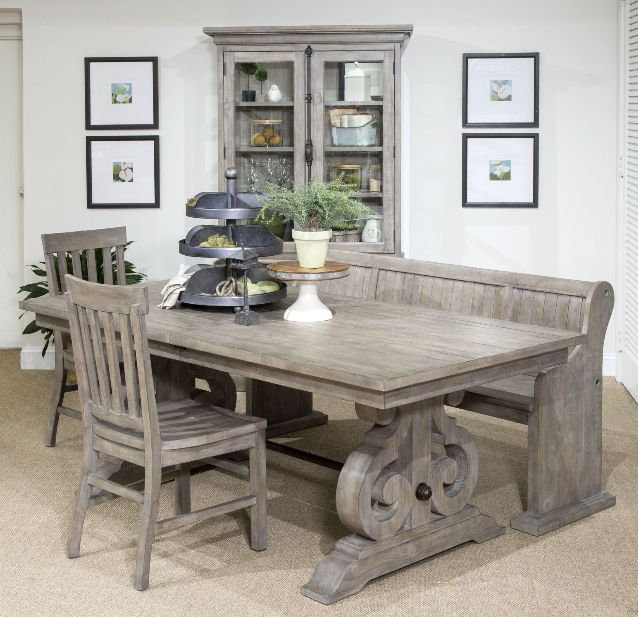 Tinley Park Dove Tail Grey Rectangular Dining Room Set