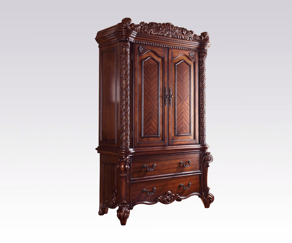 ACME Acme Vendome Traditional TV Armoire In Cherry 22007