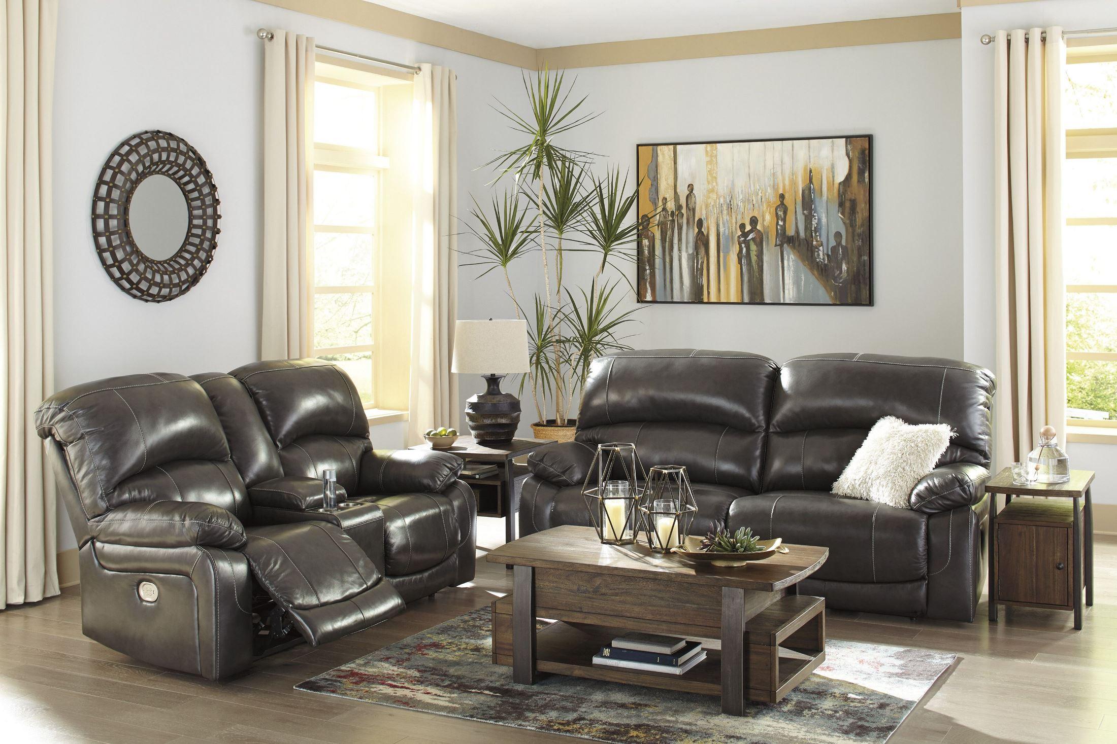 Hallstrung Gray 2 Seat Power Reclining Living Room Set 1stopbedrooms