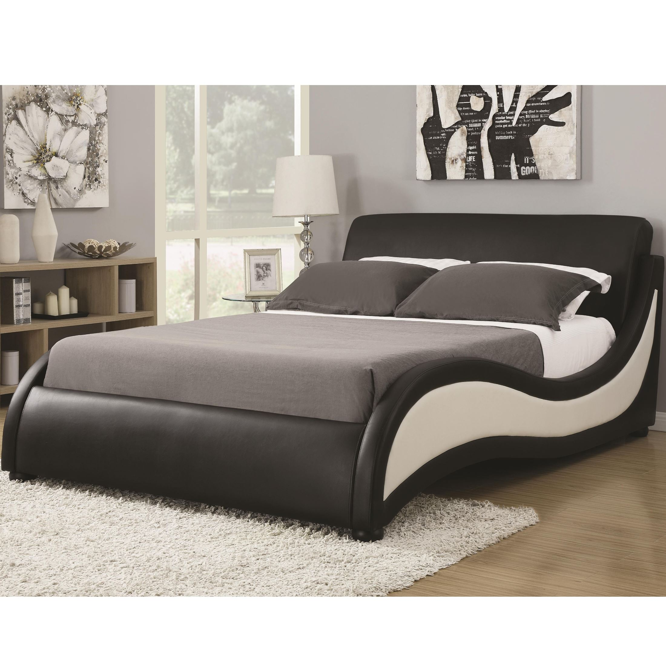 Coaster Niguel Modern Queen Upholstered Bed Niguel