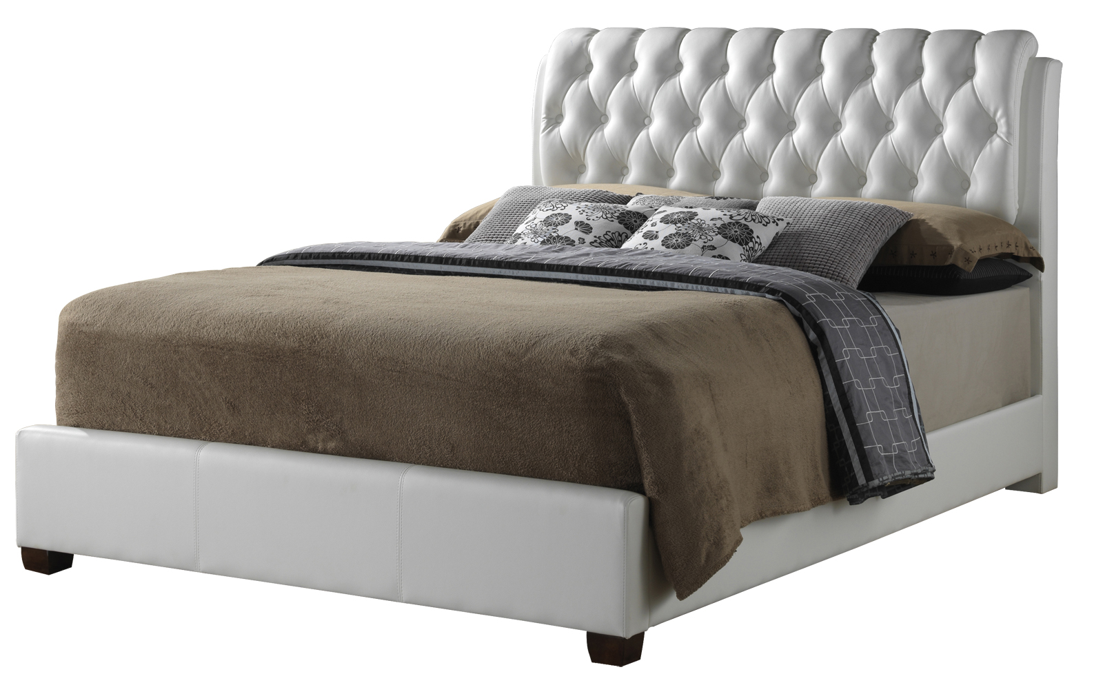 glory glory furniture g1570 king button tufted bed in white g1570c kb up g1570 collection 5. Black Bedroom Furniture Sets. Home Design Ideas